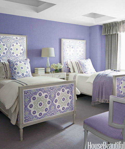 People with purple bedrooms are the least rested of all, getting on average a measly five hours and 56 minutes sleep per night. The rich color is actually very mentally stimulating, making it difficult to switch off after a busy day and potentially causing vivid dreams or nightmares.
