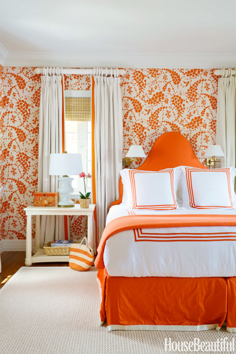 Shades of orange add warmth and create a relaxing atmosphere that can aid digestion — especially if you've eaten a big dinner. The color helps warm and relax body muscles, which is essential to getting a good night's sleep.