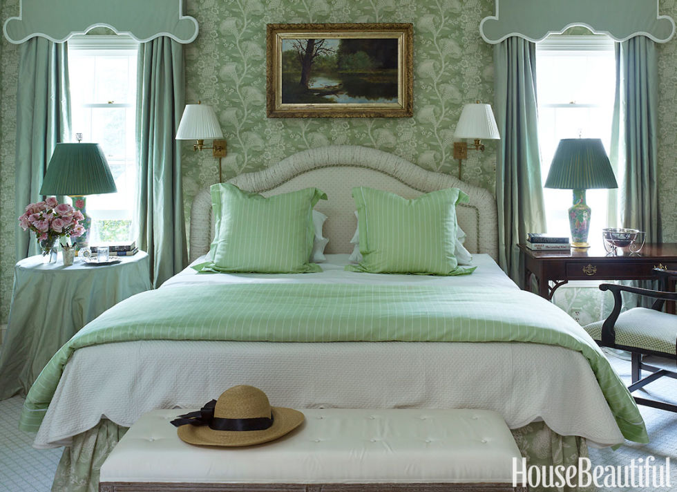 An earthy green isn't a shabby pick either.  It was the third best color palette for sleep, and 22 percent of respondents who slept in a green bedroom reported waking up feeling upbeat and positive.